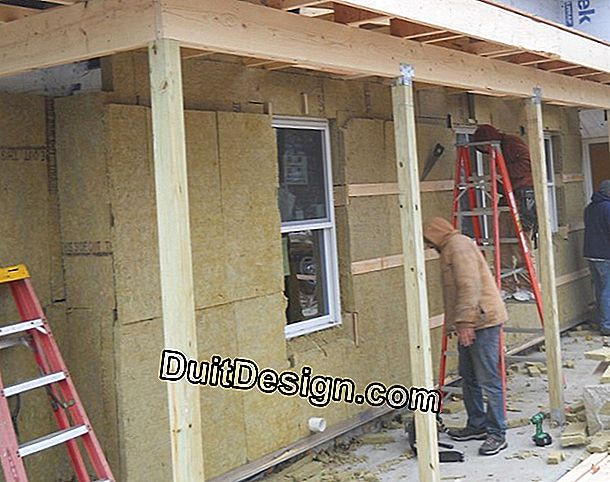 External insulation (ITE) on insulated walls of the interior