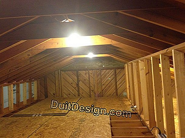 Attic insulation congested with transverse beams and low height under roof