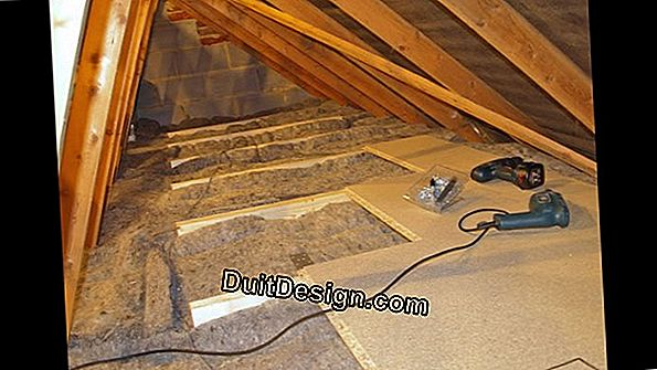 Laying of thin insulation (Dépron)