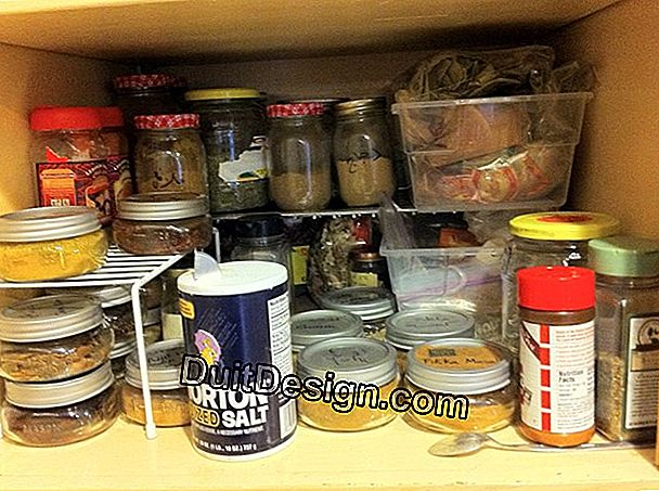 A shelf for pans and jars