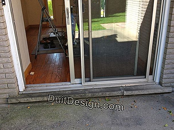 Renovate door sills in brass