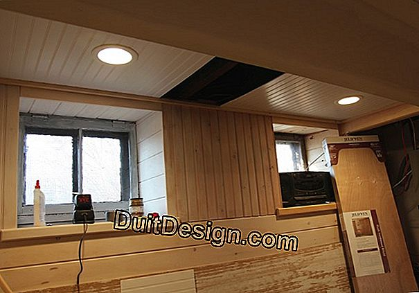 Paneling on cleats for bathroom ceiling