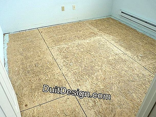 Laying a particle board floor