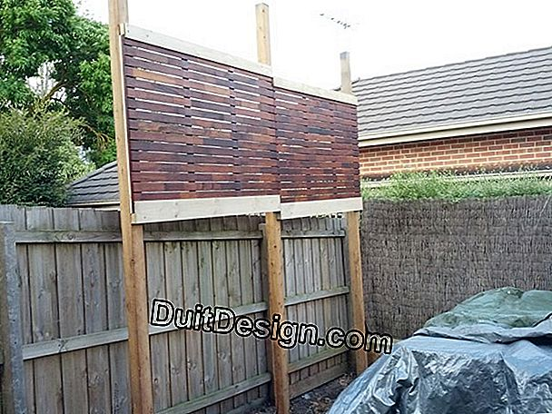 Create a 3m high fence wall
