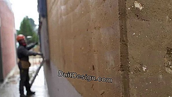 Eliminate mold on a rammed wall