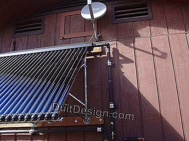 Solar thermal collectors on the floor and on the wall