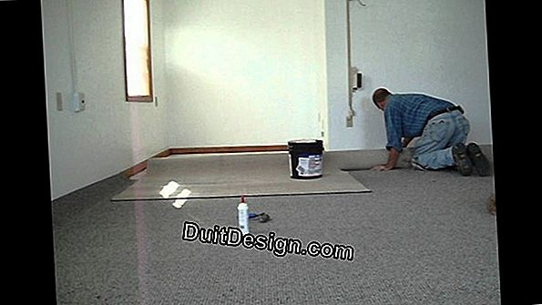 How to glue carpet?