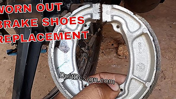 Motorcycle: replace the brake shoes