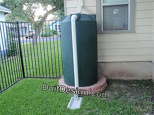 Install a rainwater collection tank