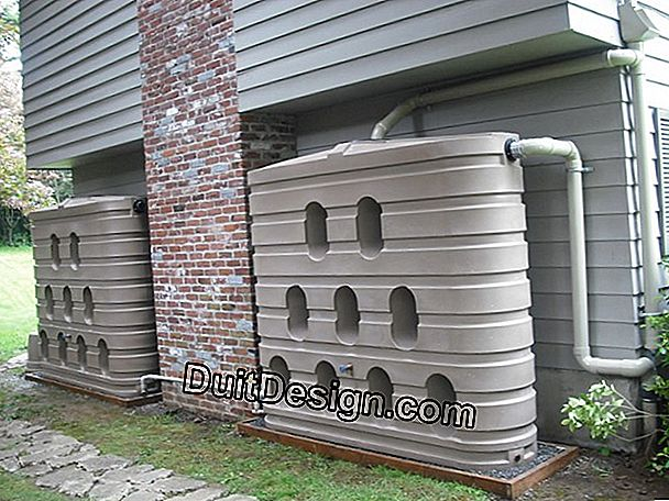 The rainwater collection tank