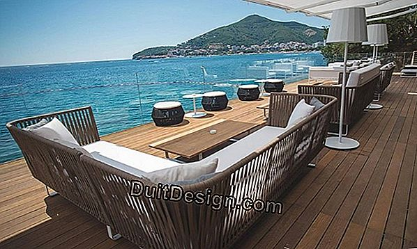 The terraces in exotic wood