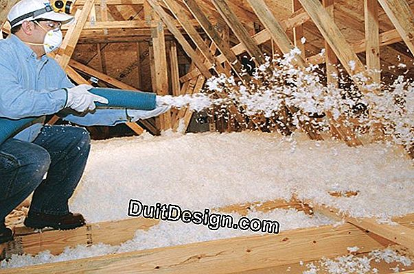 Choose between completing the blown wool insulation or replace everything