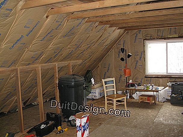 Insulate attics that can not be converted