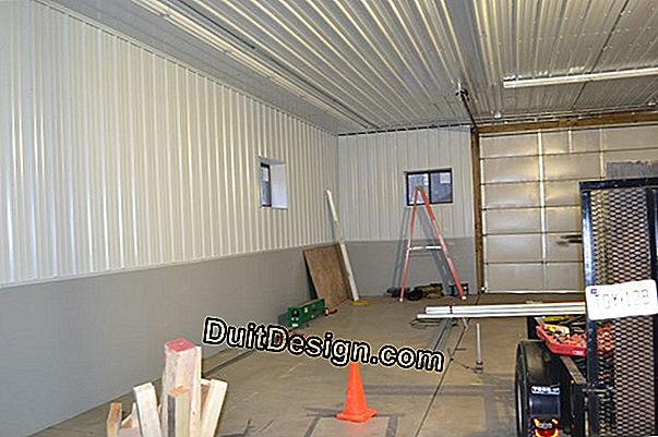 Insulate a garage with galvanized cladding
