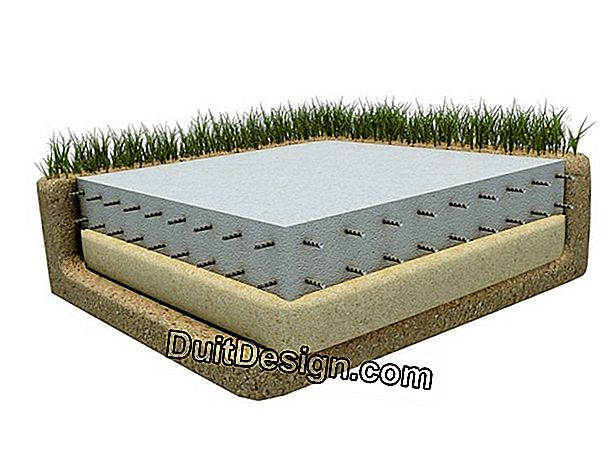 Make the foundations of a pole on a concrete slab