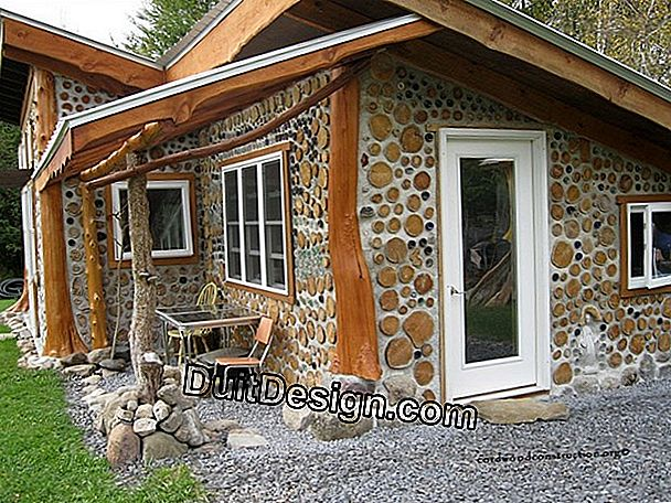 What technique to build a stone shed?