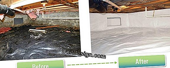 Sanitize a wet crawl space