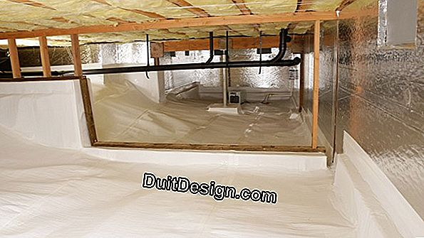 Avoid flooding a crawl space