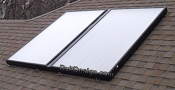 Produce solar hot water with rooftop panels