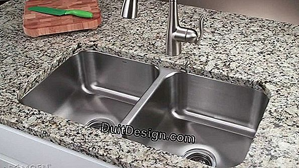 Lay out the drain of a double-bowl sink