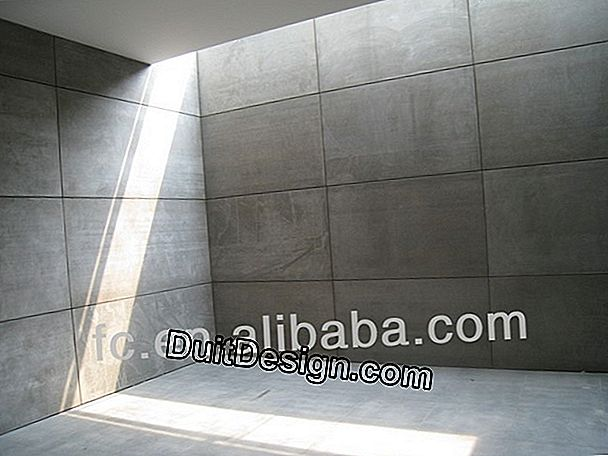 Cladding made of cement fiber