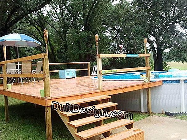 Build an above ground wooden pool