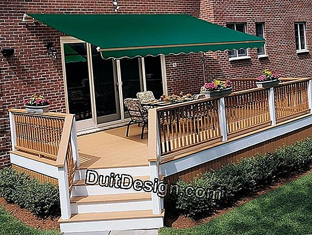 Choose motorized awnings with integral trunk