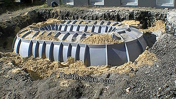 A buried cistern for rainwater