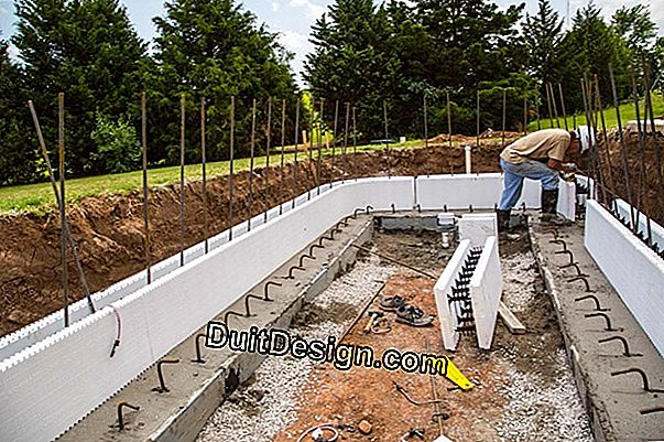 Concrete and polystyrene for pool kit