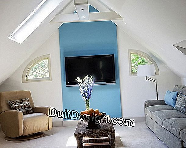 Create a cozy living room in the attic