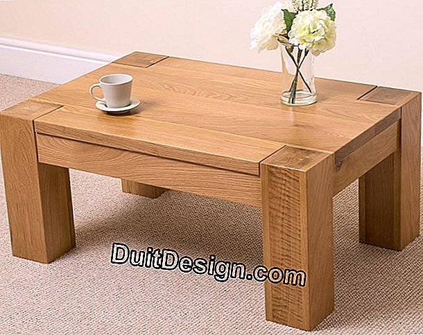 A coffee table in solid oak