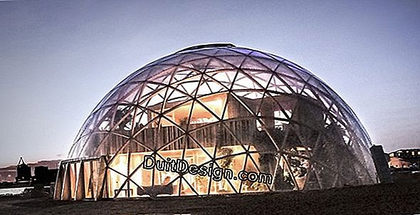 A dome greenhouse made of wood and polyane