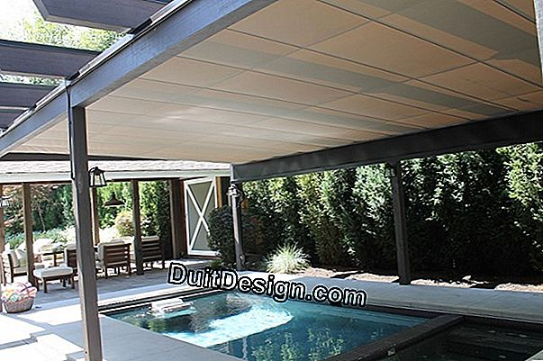Install removable blinds under a pergola