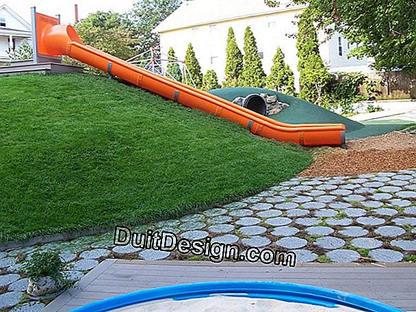 Set up a playground on a slope