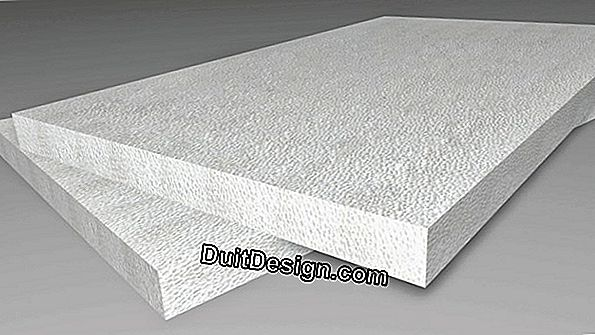 Exterior insulation with expanded polystyrene