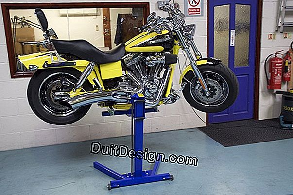 A motorcycle lift