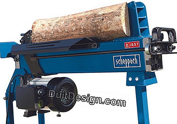 The electric log splitter: to prepare the winter effortlessly
