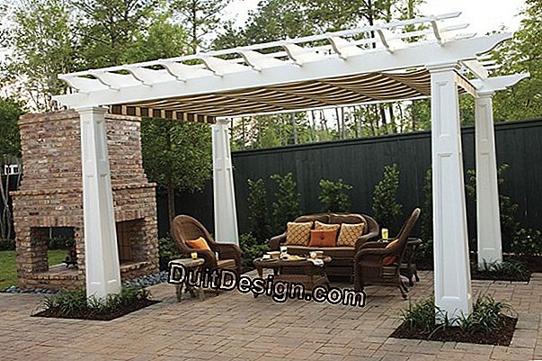 Fit a kit pergola and its screens