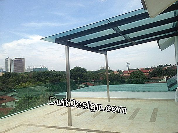 Renovate a glass and metal canopy