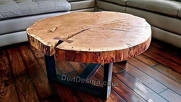 Dress up a coffee table in walnut