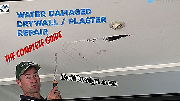 Repair damaged plasterboard