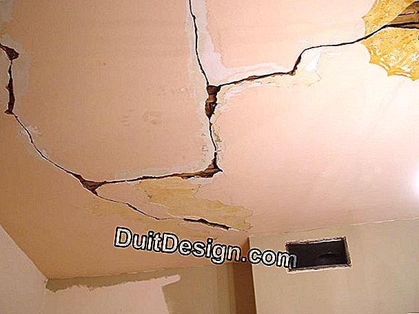 What can be the causes of cracks in a plaster ceiling?