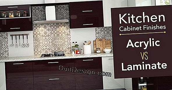 Finishes of kitchen furniture