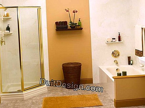 Decorate the walls of a bathroom
