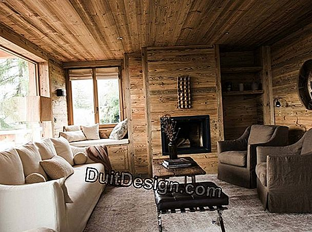 A mountain chalet style decor