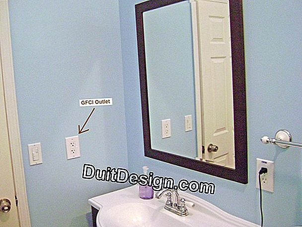 Install a socket in a bathroom
