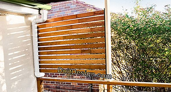 Maintain a deck of slatted slabs