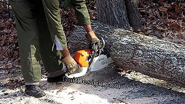 Precautions and safety, chain saw
