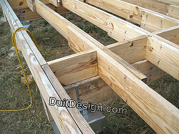 Laying a wooden deck on slab and joists
