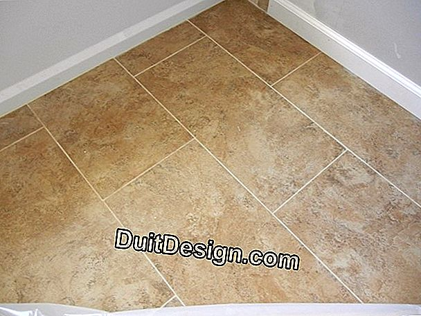 Lay tile on the floor